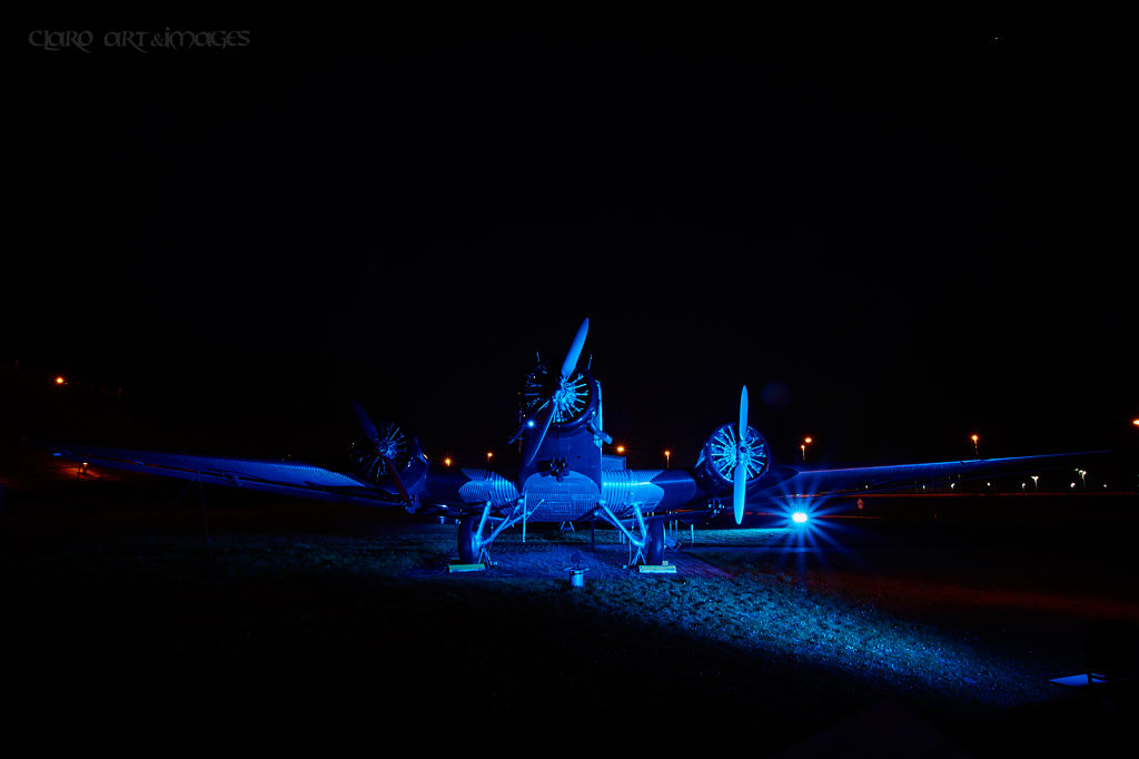 Lightpainting by Airport Munich
