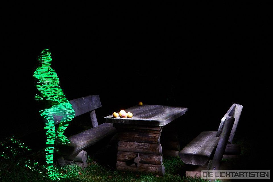 Lightpainting works with Die Lichtartisten